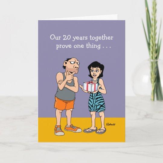 Funny 20th Wedding Anniversary Card Zazzle Com Au