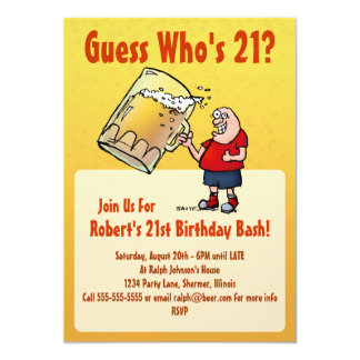 Funny 21st Birthday Invitations & Announcements   Zazzle ...