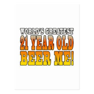 Funny 21st Birthdays : Worlds Greatest 21 Year Old Postcard