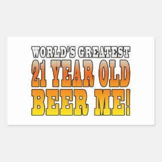 Funny 21st Birthdays : Worlds Greatest 21 Year Old Rectangular Sticker