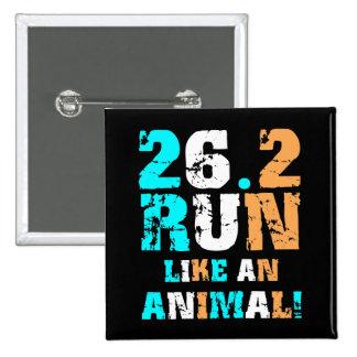 Funny 26.2 marathon 15 cm square badge