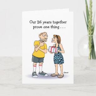 Funny anniversary cards invitations zazzle funny 26th anniversary card love card m4hsunfo