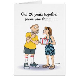 Funny anniversary cards invitations zazzle funny 26th anniversary card love card m4hsunfo Gallery