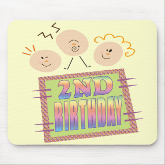 Funny 2nd Birthday Gifts Mouse Pad