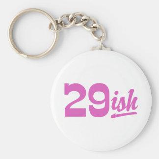 Funny 30th Birthday Basic Round Button Key Ring