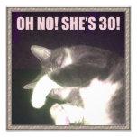 Funny 30th Birthday (Cat) Invite
