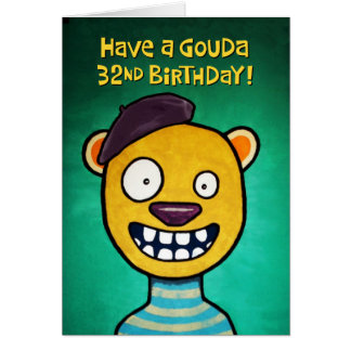 Funny 32nd Birthday Card for Her