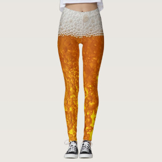 Funny 3-d Beer bubble leggings