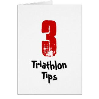 Funny 3 Triathlon Tips - Good Luck Triathlete Card