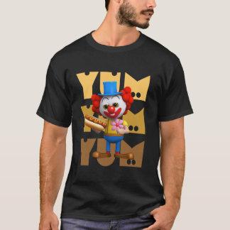 Funny 3d Clown Hotdog Yum Yum T-Shirt