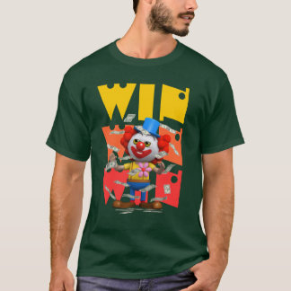 Funny 3d Clown Wins Dollars T-Shirt