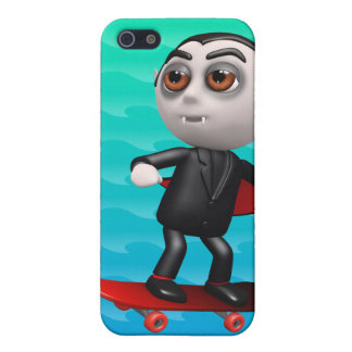 Funny 3d Dracula Skateboarding Cover For iPhone 5