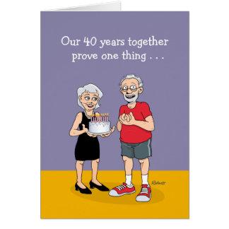 Funny 40th Anniversary Card