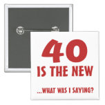 Funny 40th Birthday Gag Gifts Badge