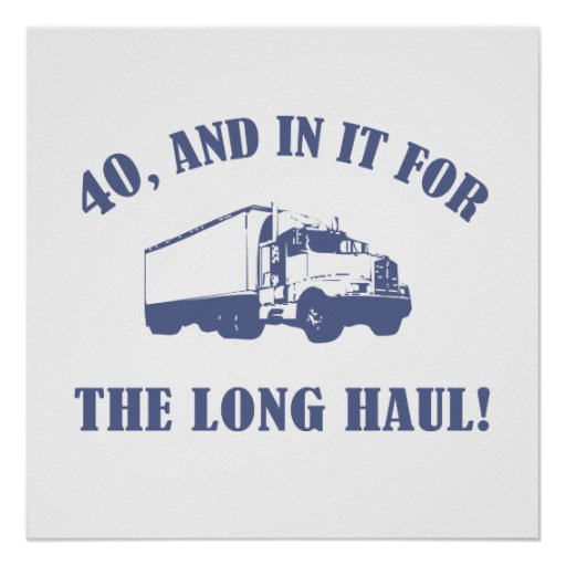 Funny 40th Birthday Gift Poster