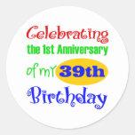 Funny 40th Birthday Gift Sticker
