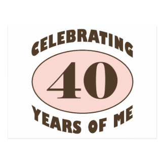 Funny 40th Birthday Gifts Postcard