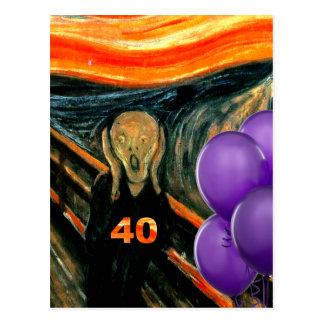 Funny 40th Birthday Postcard