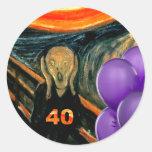 Funny 40th Birthday Stickers