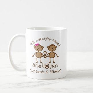 Funny 40th Wedding Anniversary His Hers Mugs