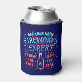Funny 4th of July Independence Fireworks Expert V2 Can Cooler