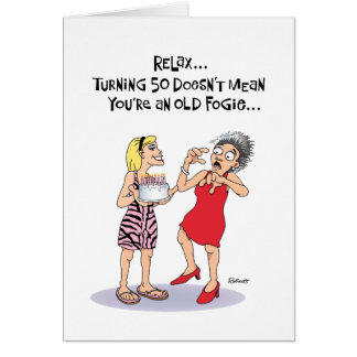 Funny 50th Birthday Card
