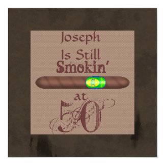 FUNNY 50th Birthday Cigar Invitations