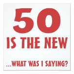 Funny 50th Birthday Gag Gifts 13 Cm X 13 Cm Square Invitation Card