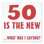 Funny 50th Birthday Gag Gifts Invitations