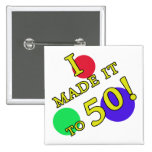 Funny 50th Birthday Gag Gifts Pin