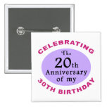 Funny 50th Birthday Gag Gifts Pinback Button