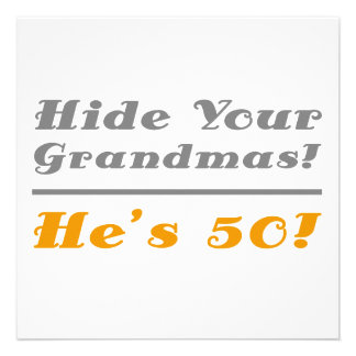 Funny 50th Birthday Gifts For Him Personalized Invite