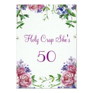 Funny, 50th Birthday Party 13 Cm X 18 Cm Invitation Card