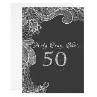 Funny, 50th Birthday Party Invitation