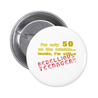 Funny 50th Birthday Present 6 Cm Round Badge