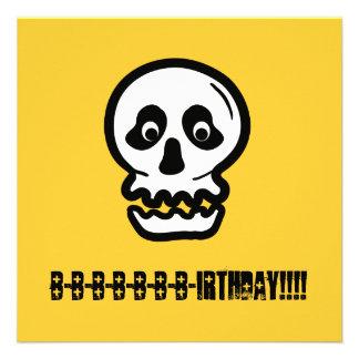 Funny 50th Skull Birthday Template A03 Personalized Invitation