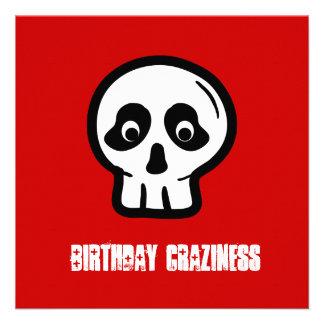 Funny 50th Skull Birthday Template A07 Custom Invite