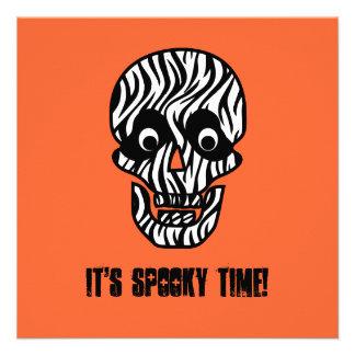 Funny 50th Skull Halloween Birthday Template A10 Custom Invite