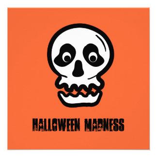 Funny 50th Skull Halloween Birthday Template A11 Custom Announcements