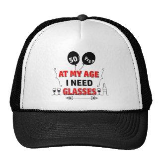 Funny 50th year birthday gift cap