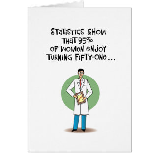 Funny 51st Birthday Card