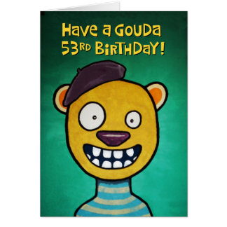 Funny 53rd Birthday Card for Her
