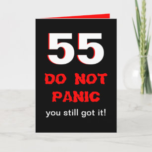 Funny 55th Birthday Card For Men