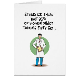 Funny 56th Birthday Greeting Card