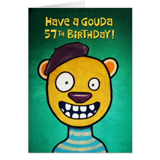 Funny 57th Birthday Card for Her