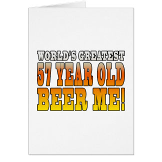 Funny 57th Birthdays : Worlds Greatest 57 Year Old Note Card