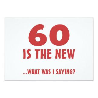Funny 60th Birthday Gag Gifts 13 Cm X 18 Cm Invitation Card