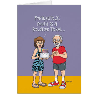 Funny 65th Birthday for Him Greeting Card