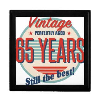 Funny 65th Birthday Old Fashioned Gift Box