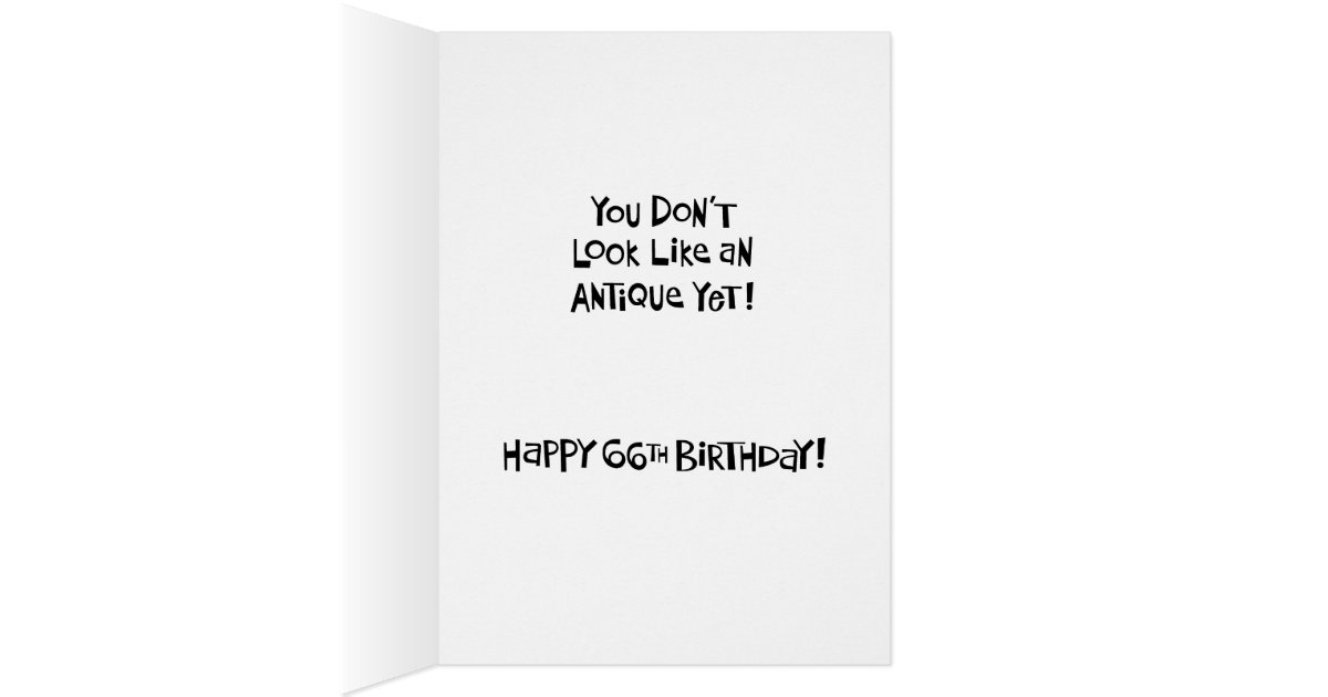 funny 66th birthday card for woman